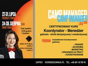 CAMP MANAGER - 27-31 lipca (1 osoba)