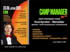 CAMP MANAGER - 22-26 luty (1 osoba)